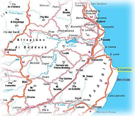 Immagini Della Cartina Geografica Della Sardegna.Capo Comino